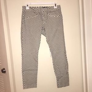 Diamond print gap pants
